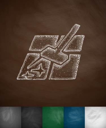 mopping: mopping icon. Hand drawn vector illustration. Chalkboard Design Illustration