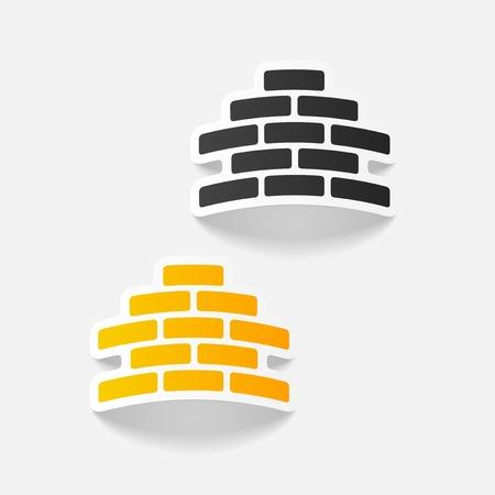 paredes de ladrillos: realista elemento de diseño: ladrillo