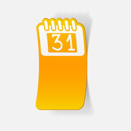 calendar design: realistic design element: calendar