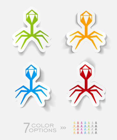 organisms: organisms paper sticker with shadow. Vector illustration