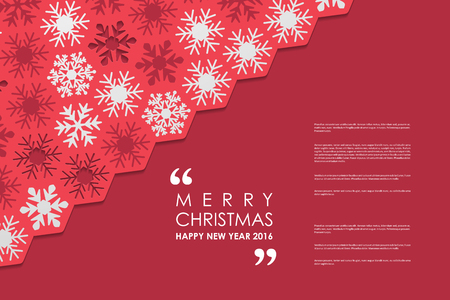 Set of brochure, poster templates in Christmas style. Beautiful design and layout Vettoriali