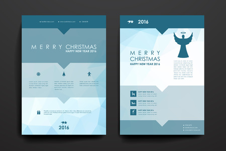 blank magazine: Set of brochure, poster templates in Christmas style. Beautiful design and layout Illustration