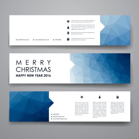 Ensemble de moderne modèle de conception de la bannière dans le style de Noël. Belle conception et mise en page