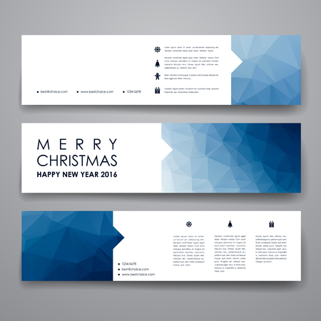 Set of modern design banner template in Christmas style. Beautiful design and layout Banco de Imagens - 49291631