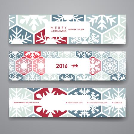 Set van moderne ontwerpsjabloon voor spandoek in stijl van Kerstmis. Mooi ontwerp en lay-out Stock Illustratie
