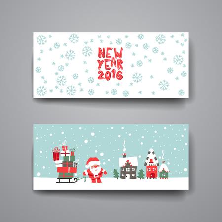 Merry Christmas Set kaartsjablonen. Collectie voor groet, gefeliciteerd, uitnodigingen. Stockfoto - 49292858