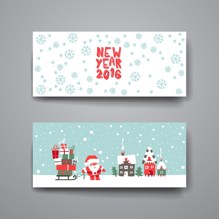 Merry Christmas Set Of Card Templates. Collection for Greeting, Congratulations, Invitations. Stock Vector - 49292858