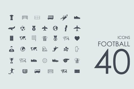 showground: football vector set of modern simple icons Illustration