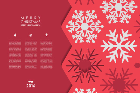 book background: Set of brochure, poster templates in Christmas style. Beautiful design and layout Illustration
