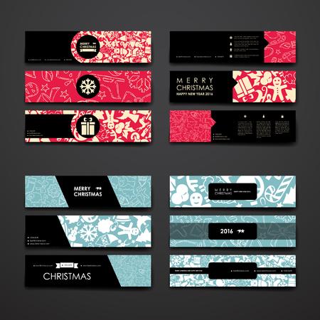 Set van modern design banner template in kerstsfeer. Mooi design en lay-out