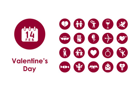 closeness: It is a set of Valentineys Day simple web icons