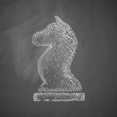 horse sleigh: chess icon Illustration