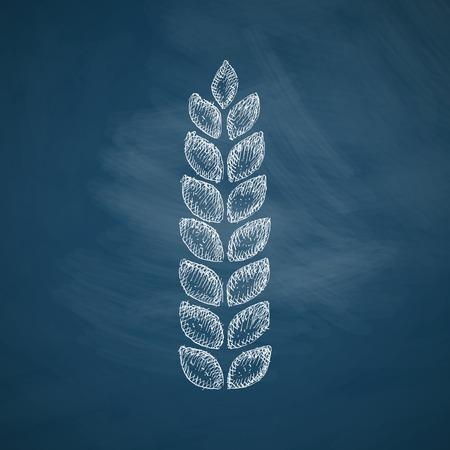 handdrawn: ears of wheat icon