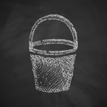 bottom line: bucket icon