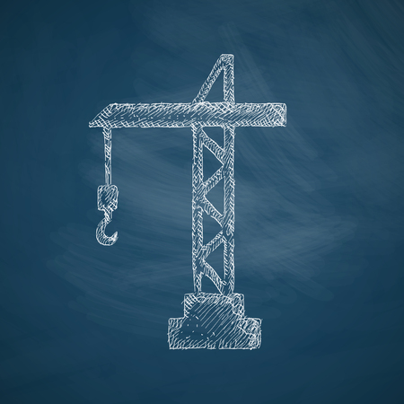 hoisting: hoisting crane icon Illustration