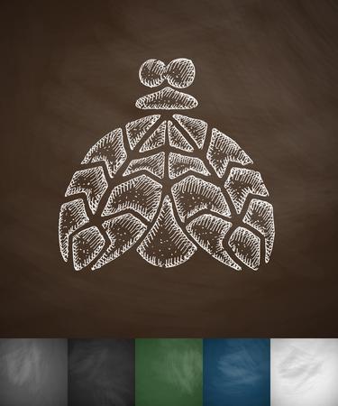 mole icon. Hand drawn vector illustration. Chalkboard Design Illustration