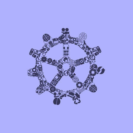 cogwheel: cogwheel icon