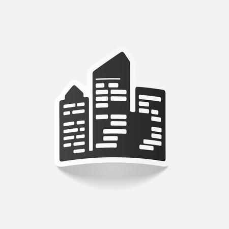 skyscrapers: realistic design element: city skyscrapers