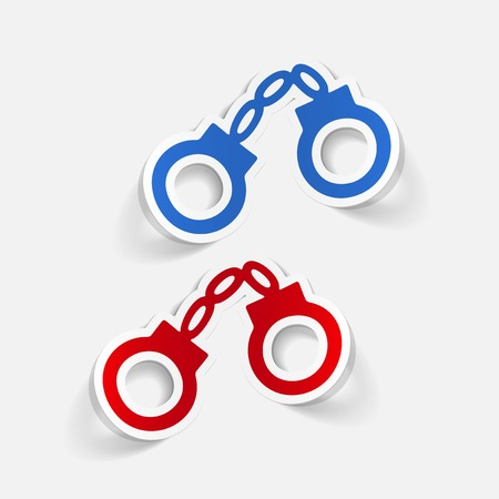 handcuffs: realistic design element: handcuffs Illustration