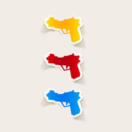 threaded: realistic design element: gun