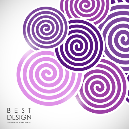 furled: It is an abstract colourful bacrground with spiral elements Illustration
