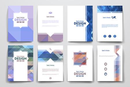 Conjunto de folletos, plantillas de carteles en estilo abstracto. Hermoso diseño y el diseño Foto de archivo - 49614831