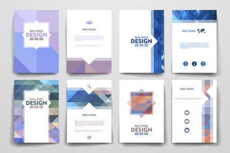 page layout: Set of brochure, poster templates in abstract style. Beautiful design and layout