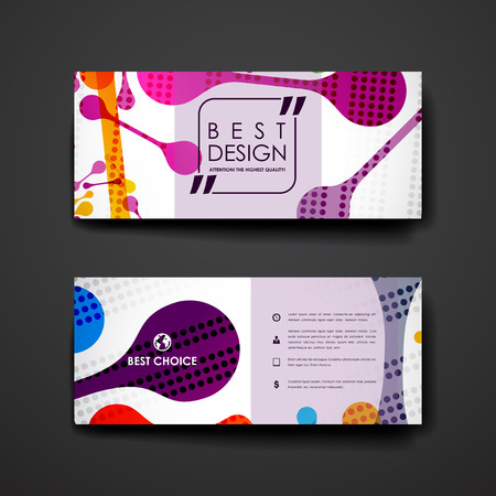 background graphic: Set of brochure, poster templates in abstract background style. Beautiful design and layout Illustration