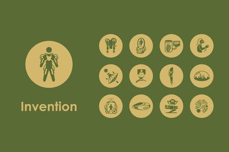invention: It is a set of invention simple web icons