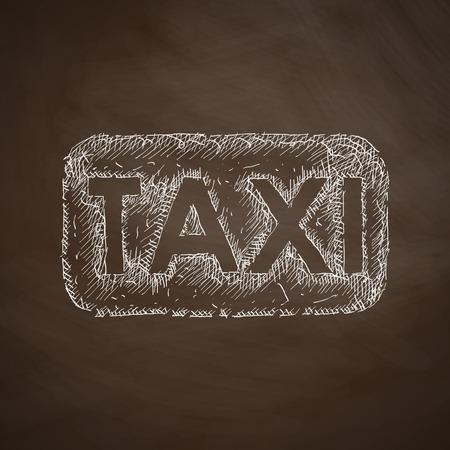 taxista: icono de taxi