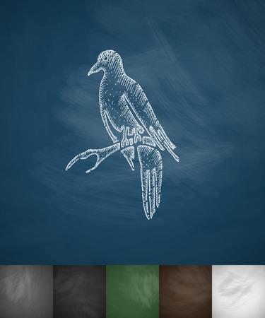 migrating birds: bird icon. Hand drawn vector illustration. Chalkboard Design Illustration