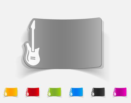 guitar neck: realistic design element. electric guitar