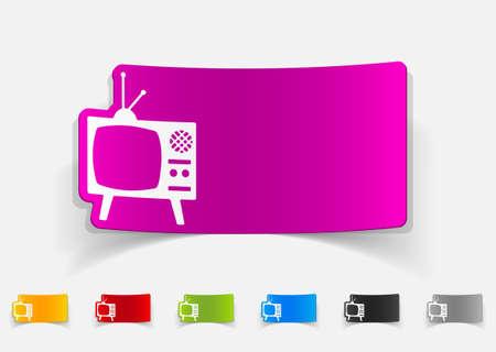 old tv: realistic design element. old tv
