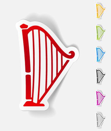 symphonic: realistic design element. harp