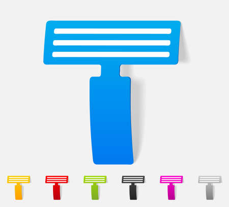 neatness: realistic design element. razor
