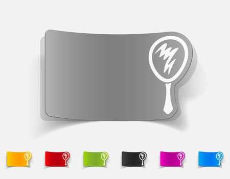 hand mirror: realistic design element. hand mirror Illustration