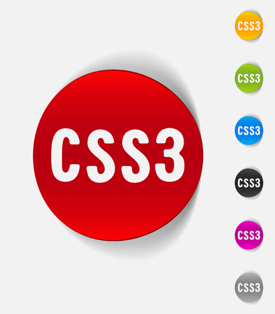 css3: realistic design element. CSS3 Illustration