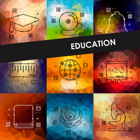 teaching: education timeline presentations with blurred unfocused background