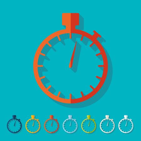 symbol sport: Flat design: stopwatch Illustration