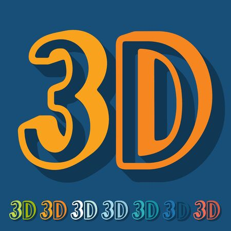 analytical: Flat design: 3D