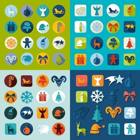 art exhibition: Set of Christmas icons Illustration