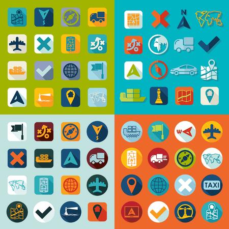 art exhibition: Set of navigation icons