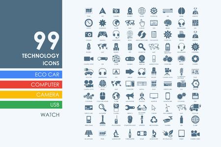 modernization: technology vector set of modern simple icons