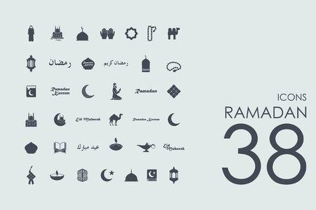 ramadan Vektor Reihe von modernen einfache Symbole