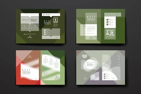 broshure: Set of brochure, poster templates in abstract style. Beautiful design and layout