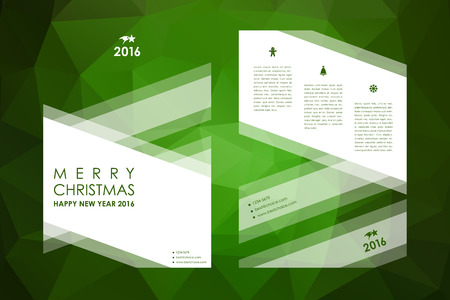 broshure: Set of brochure, poster templates in Christmas style. Beautiful design and layout Illustration