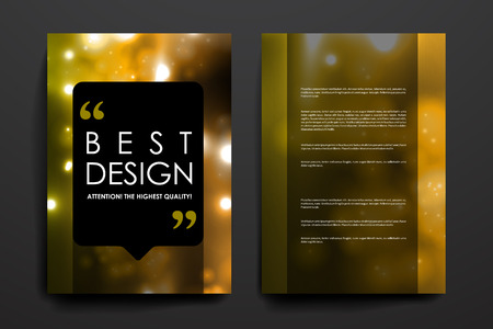background colors: Set of brochure, poster templates in neon molecule structure style. Beautiful design and layout