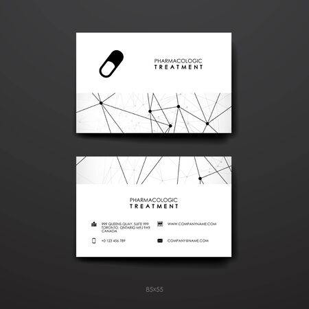 broshure: Set of brochure, poster templates in DNA molecule style. Beautiful design and layout Illustration