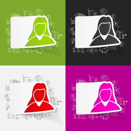 business woman: drawing business formulas. woman