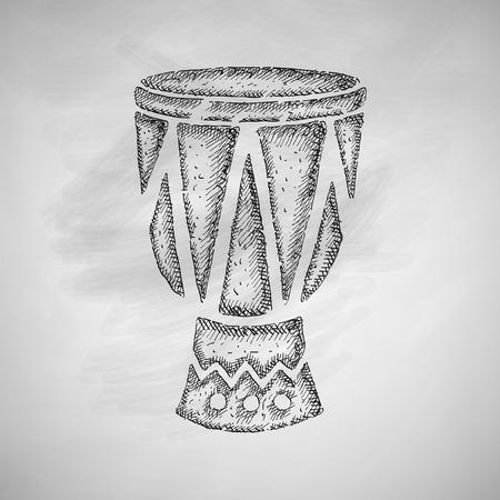 rhythm: drum icon Illustration